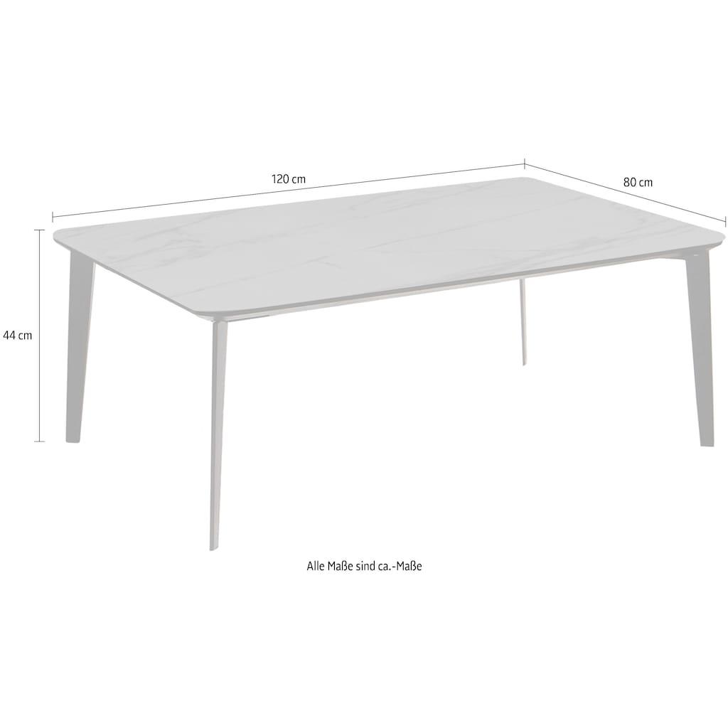 Villeroy & Boch Couchtisch »AMARA«, mit Keramiktischplatte und Metallfuß