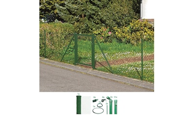 GAH Alberts Maschendrahtzaun, 175 cm hoch, 25 m, grün beschichtet, zum Einbetonieren kaufen