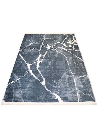 RESITAL The Voice of Carpet Teppich »Sultan 0063«, rechteckig, 9 mm Höhe, Flachgewebe bedruckt, Marmor-Optik, Wohnzimmer kaufen