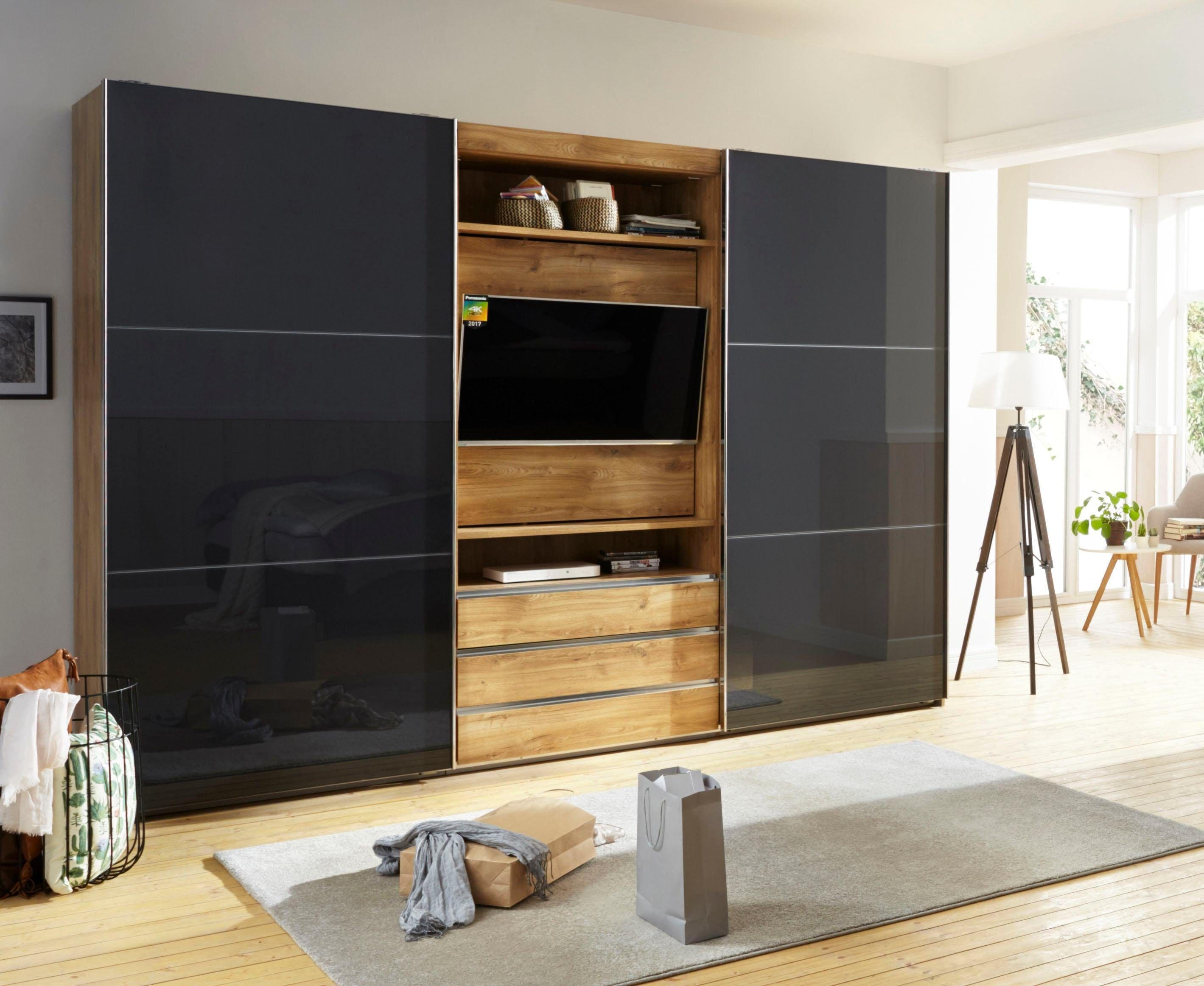 Fresh To Go Schwebetürenschrank »Magic«, mit drehbaren TV-Element