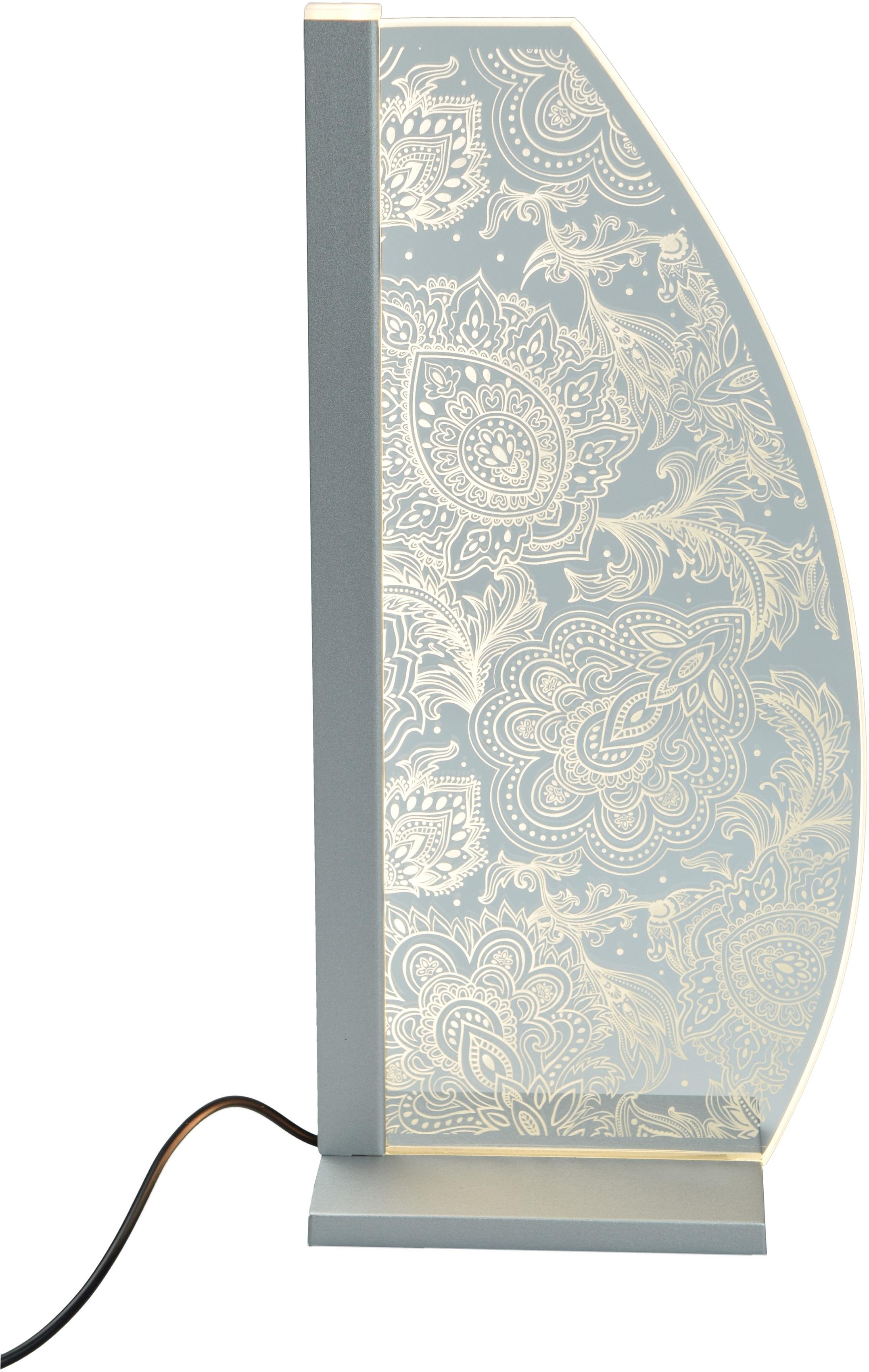 LUVERRE LED Tischleuchte Ornament, LED-Board, 1 St., Kristallglas, Innengravur, Ornament LED Tischleuchte