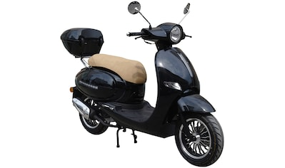 GT UNION Motorroller »Medina«, 50 ccm, 45 km/h, Euro 4, schwarz inkl. Topcase kaufen