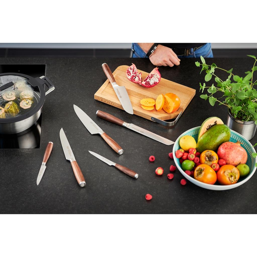 RÖSLE Kochmesser »Masterclass«, (1 tlg.), scharfes Küchenmesser zum Schneiden von Fleisch, Fisch, Geflügel und Gemüse, Made in Solingen, Klingenspezialstahl, ergonomischer Griff, Nussbaumholz