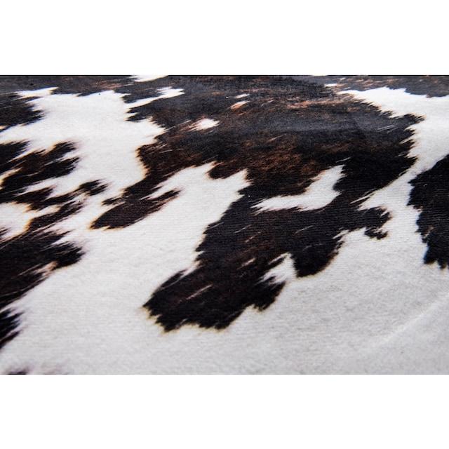 Fellteppich, »Emilia«, Gino Falcone, fellförmig, Höhe 3 mm, gedruckt