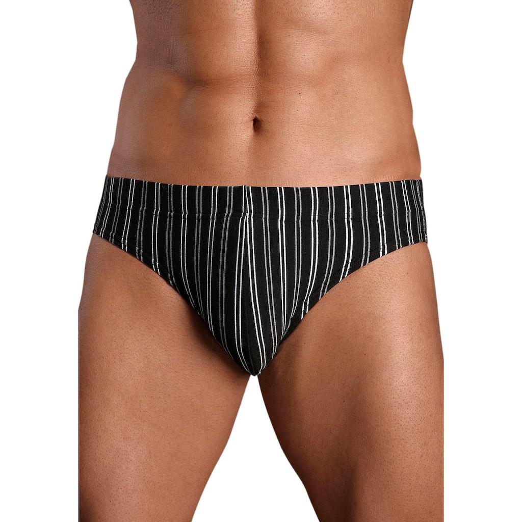 le jogger® Slip, (6 St.), mit garngefärbten Streifen