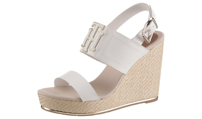 TOMMY HILFIGER High-Heel-Sandalette »TH ELASTIC HIGH WEDGE SANDAL«, mit Elastikeinsatz kaufen