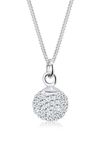 Elli Collierkettchen »Anhänger Kugel mit Kristalle Silber« kaufen