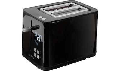 Krups Toaster »Smart'n Light KH6418;«, 2 kurze Schlitze, 800 W, Digitaldisplay; 7 Bräunungsstufen; Automatische Zentrierung des Brots kaufen