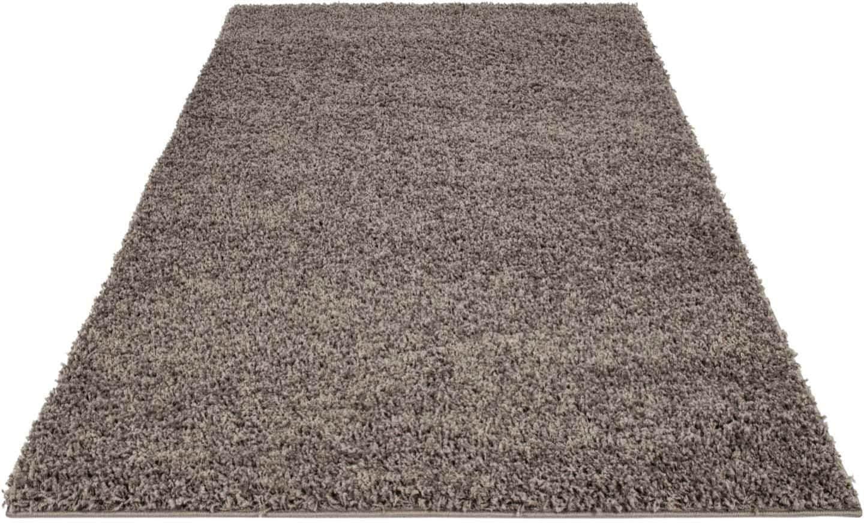Hochflor-Teppich Shaggi uni 500 Carpet City rechteckig Höhe 30 mm maschinell gewebt