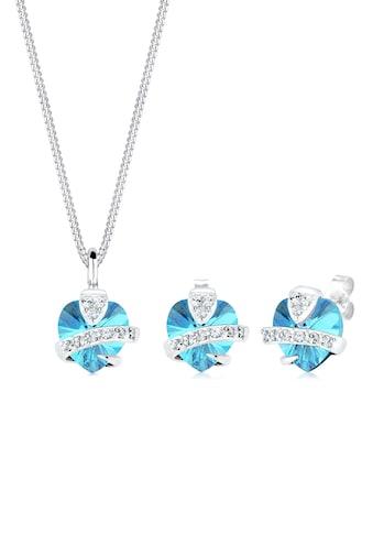Elli Schmuckset »Herz Glamourös Swarovski® Kristalle 925 Silber« kaufen