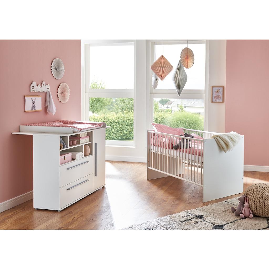 arthur berndt Babymöbel-Set »Romy«, (Spar-Set, 2 St.), mit Kinderbett und Wickelkommode; Made in Germany