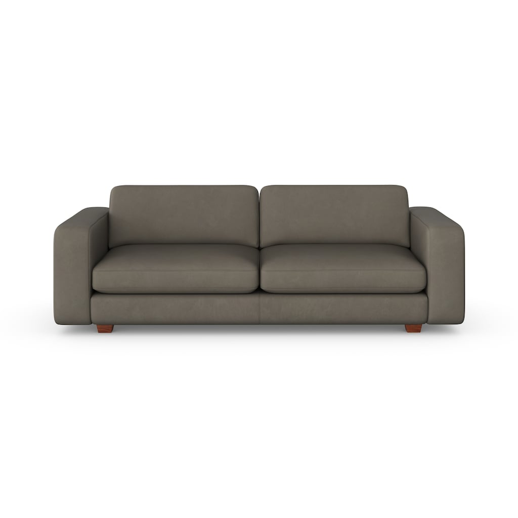 machalke® 3-Sitzer »valentino«, mit breiten Armlehnen, Füße Walnuss, Breite 221 cm, mit GRATIS Ledertasche
