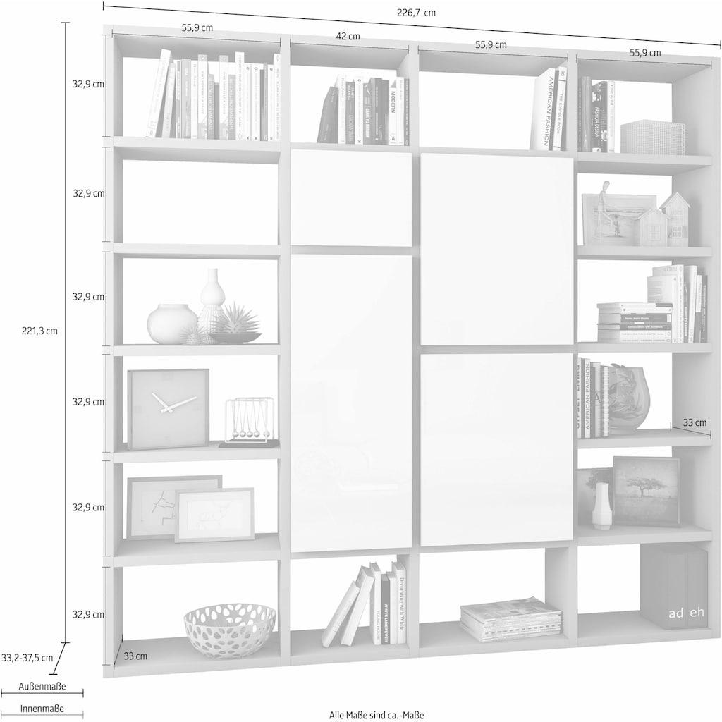 fif möbel Raumteilerregal »TOR510«, Breite 227 cm