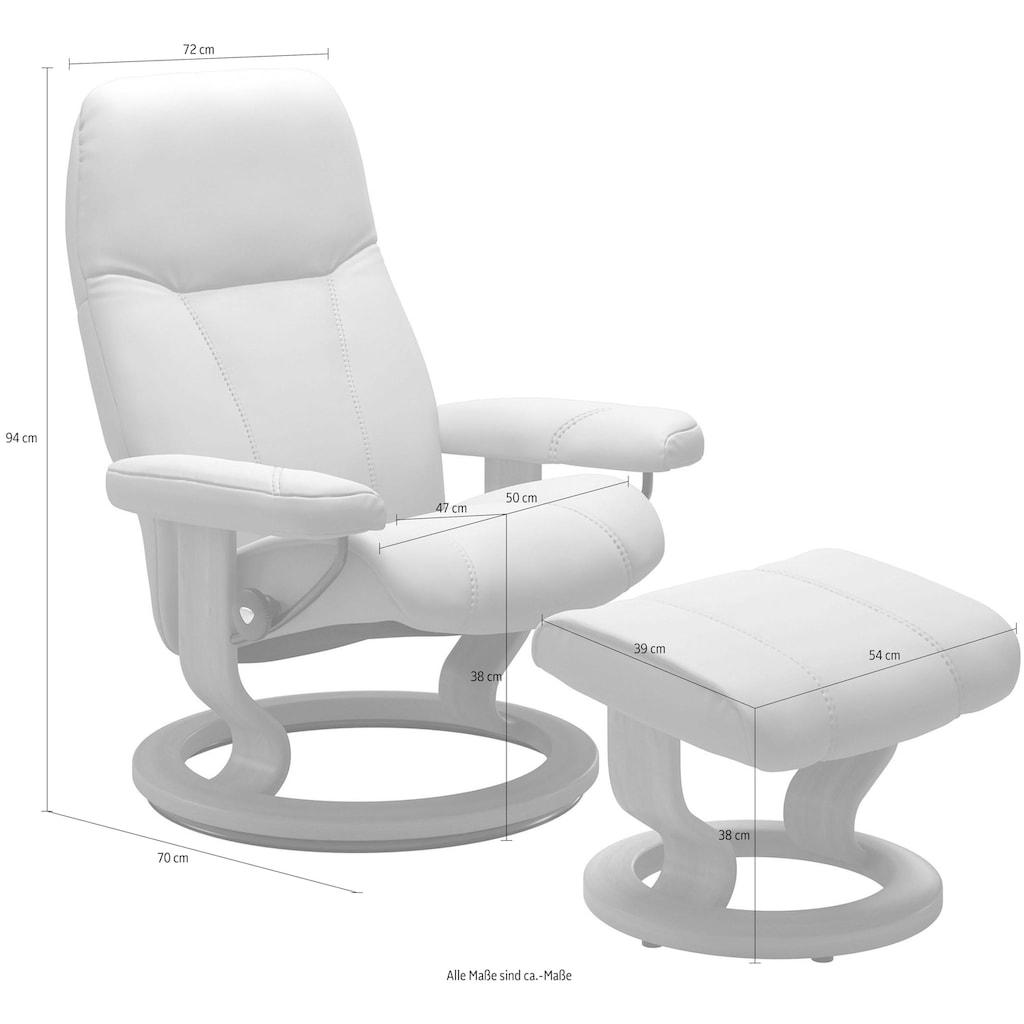 Stressless® Relaxsessel »Consul«, mit Hocker, mit Classic Base, Größe S, Gestell Braun