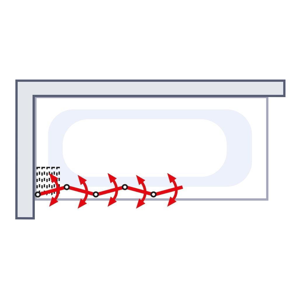 Schulte Badewannenfaltwand »Luxus«, gerahmt, BxH: 115 x 140 cm