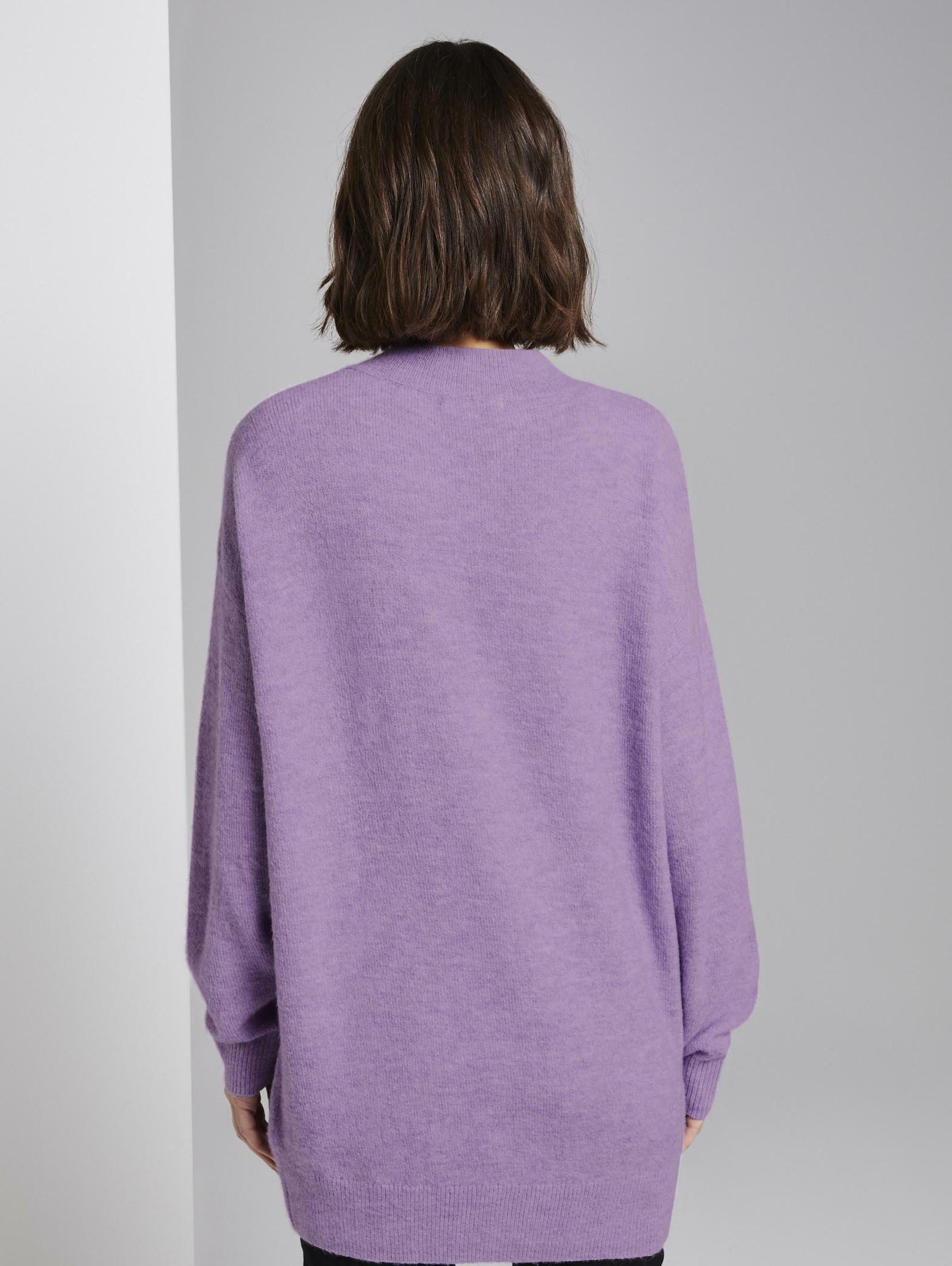 TOM TAILOR Denim Longpullover Strickpullover mit V-Ausschnitt | Bekleidung > Pullover > Longpullover | Tom Tailor Denim