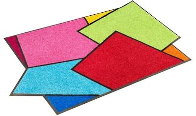 Teppich, »Crazy Cubes«, wash+dry by Kleen - Tex, rechteckig, Höhe 7 mm, gedruckt kaufen