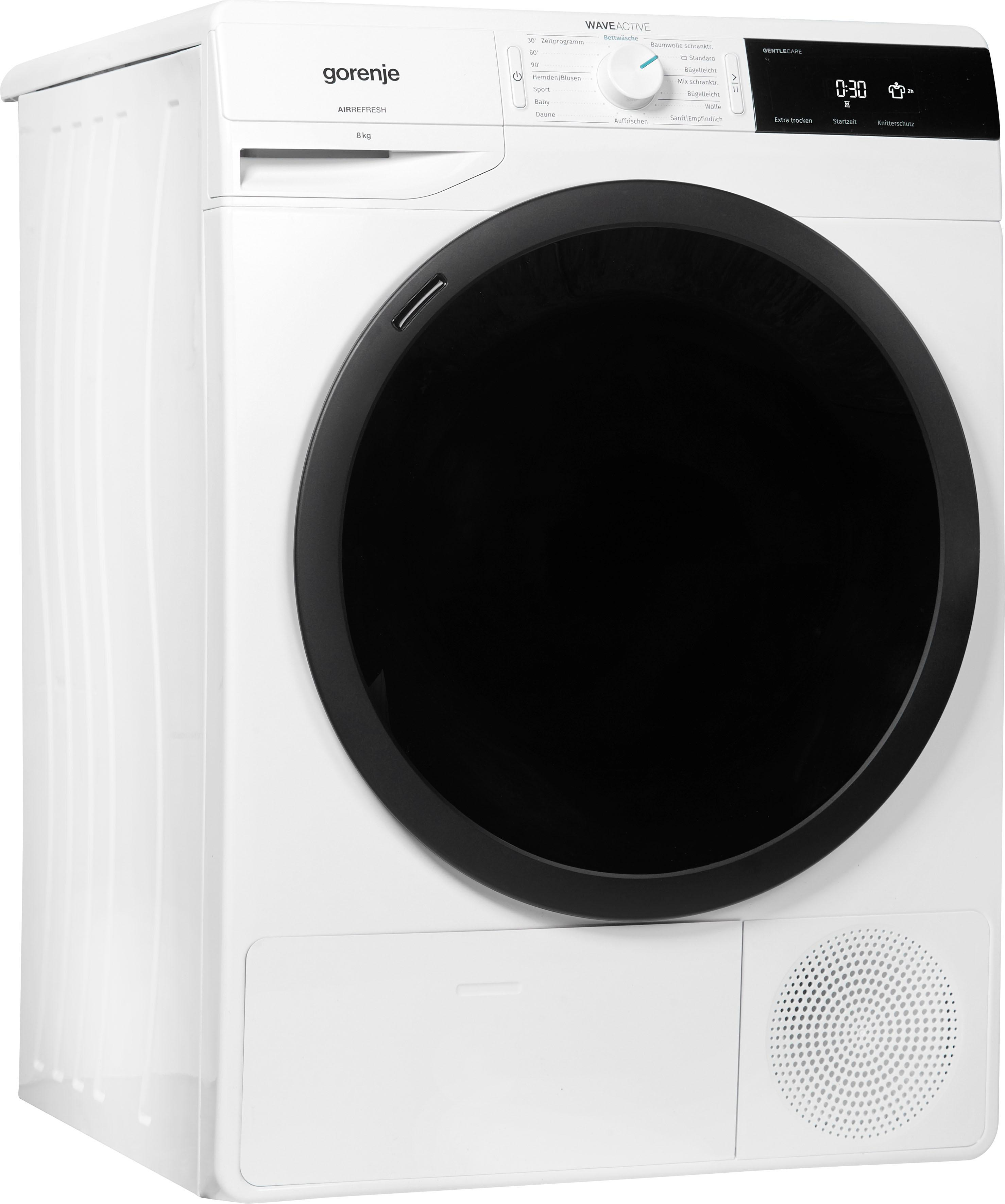 GORENJE Kondenstrockner WaveD E8B 8 kg   Bad > Waschmaschinen und Trockner > Kondenstrockner   Weiß   Gorenje