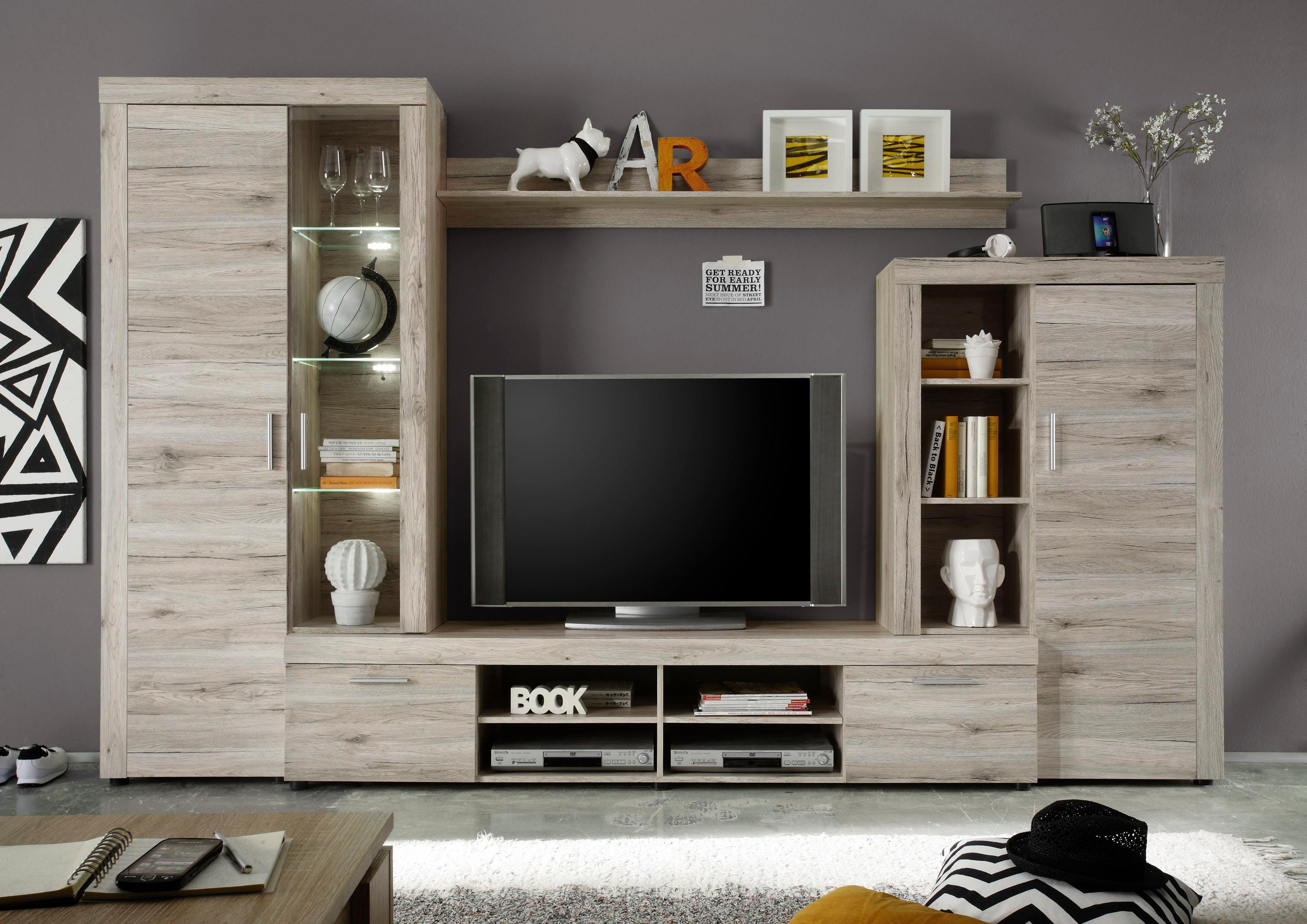 eiche-nachbildung Wohnwände online kaufen | Möbel-Suchmaschine ...