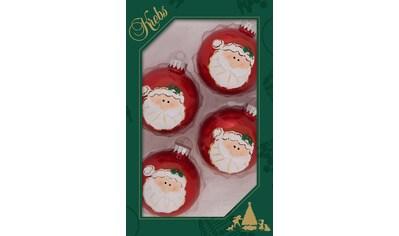 """Krebs Glas Lauscha Weihnachtsbaumkugel """"Weihnachtsmann - Kopf"""" kaufen"""
