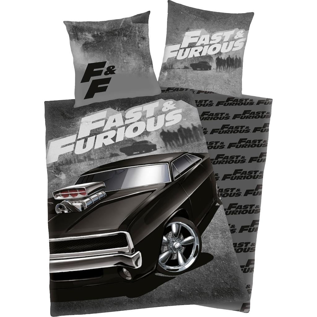 Jugendbettwäsche »Fast & Furious«, mit coolem Motiv