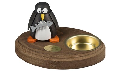 SAICO Original Leuchter Pinguin mit Fisch für 1 Teelicht kaufen