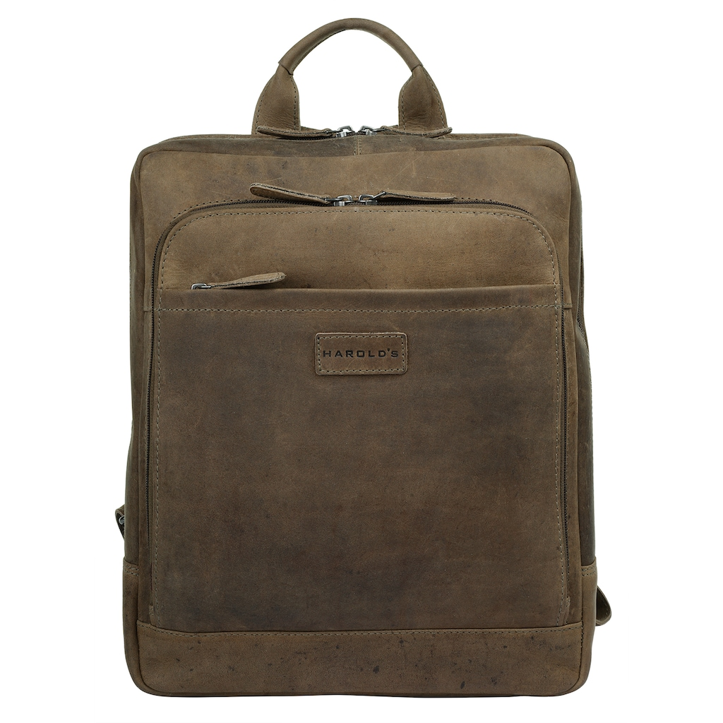 Harold's Laptoprucksack, vegetabil gegerbt