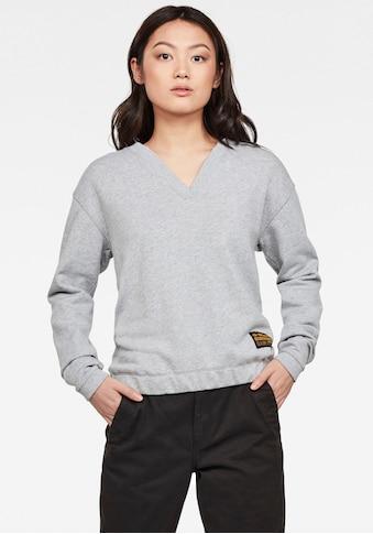 G-Star RAW Sweatshirt »Venarux Xzyph R Sweatshirt«, mit gerippten Rundhalsausschnitt mit V-förmigem Ausschnitt kaufen