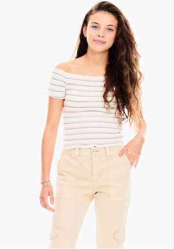 Garcia T-Shirt, figurbetonte kurze Form kaufen