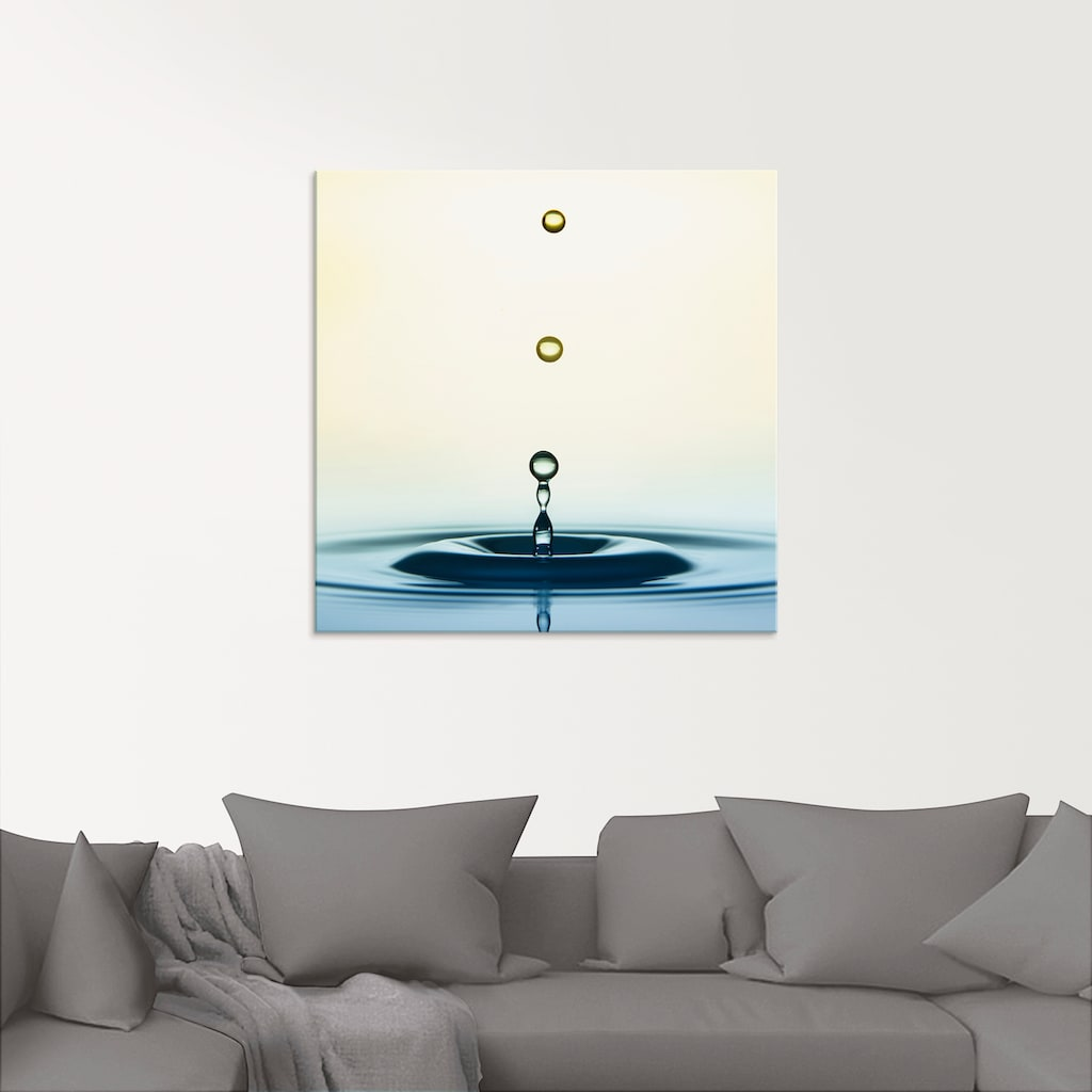 Artland Glasbild »Tropfen«, Zen, (1 St.)