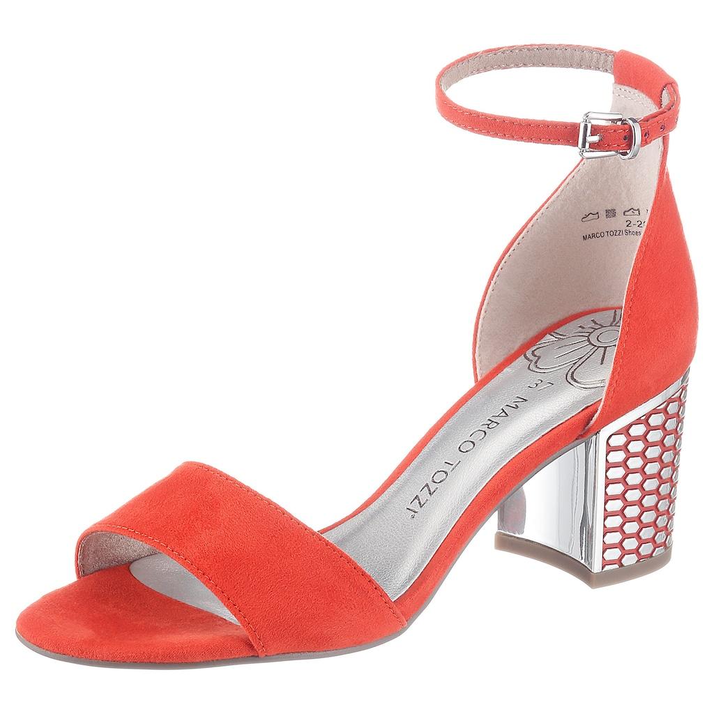 MARCO TOZZI Sandalette, mit effektvoller Absatzgestaltung