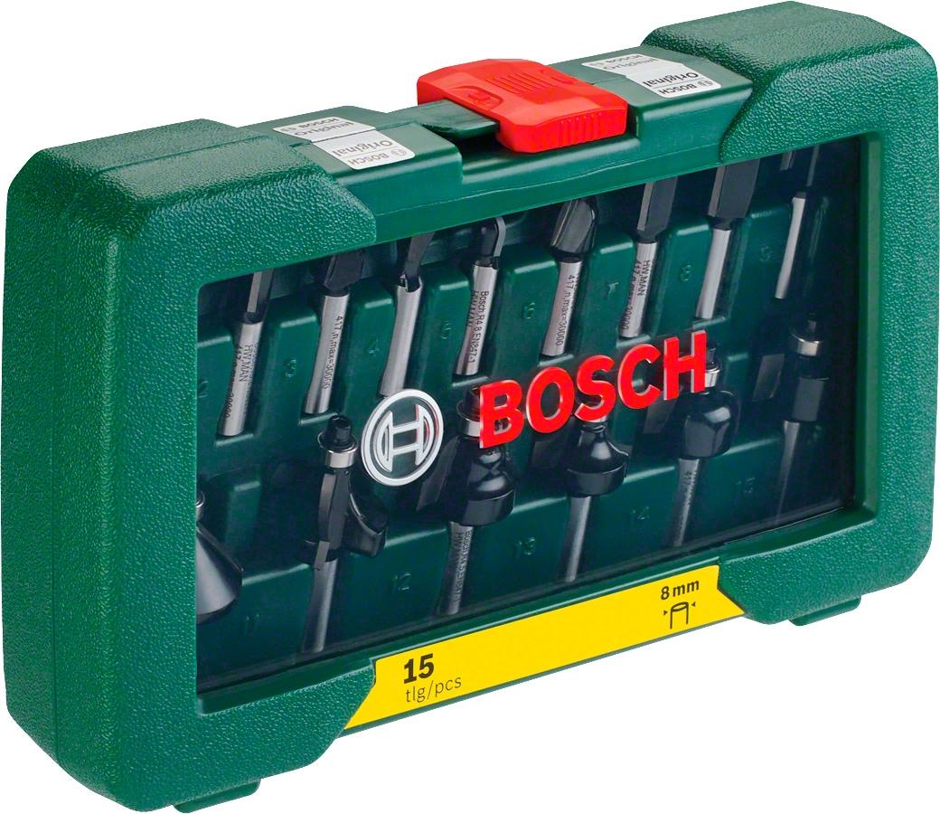BOSCH Schaftfräser grün Zubehör Werkzeug Maschinen