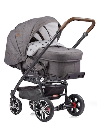 Gesslein Kombi-Kinderwagen »F4 Air+, schwarz/tabak mit Tragetasche C2 Compact, grau... kaufen