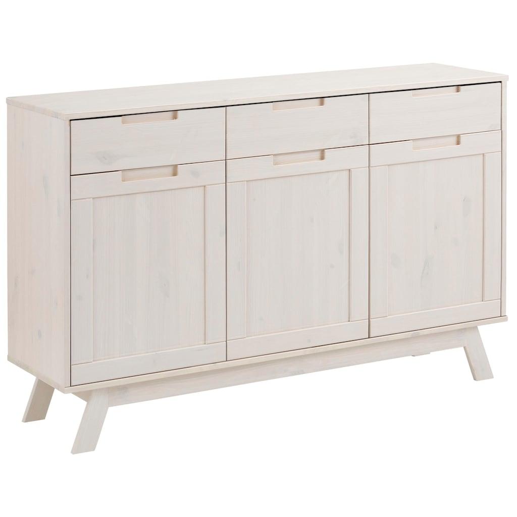 Home affaire Sideboard »Ohio«, im traditionellem Design und vielen Stauraummöglichkeiten, Breite 128 cm
