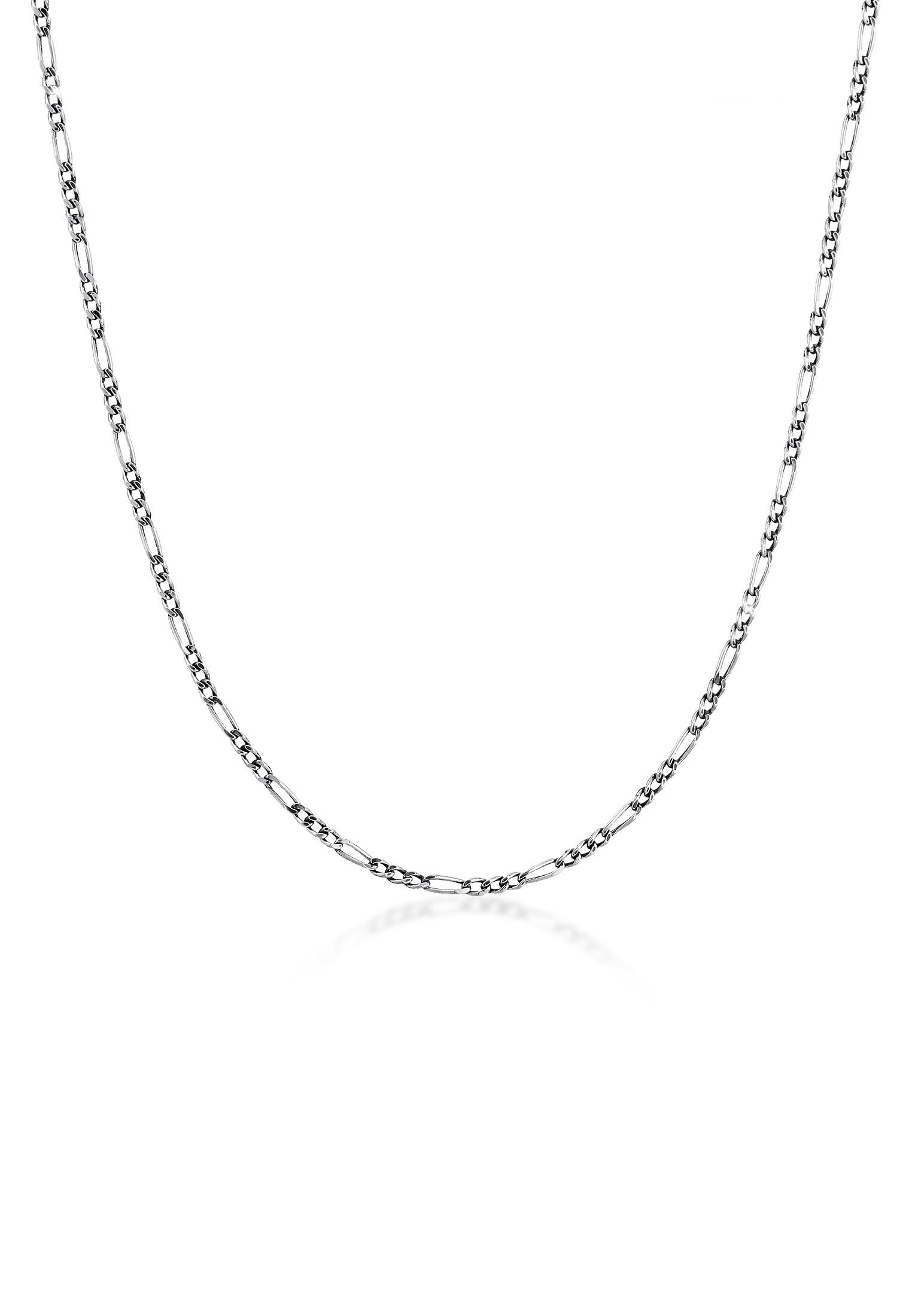 Kuzzoi Silberkette Herrn Figaro Oxidiert Massiv Mann 925 Silber | Schmuck > Halsketten > Silberketten | Kuzzoi