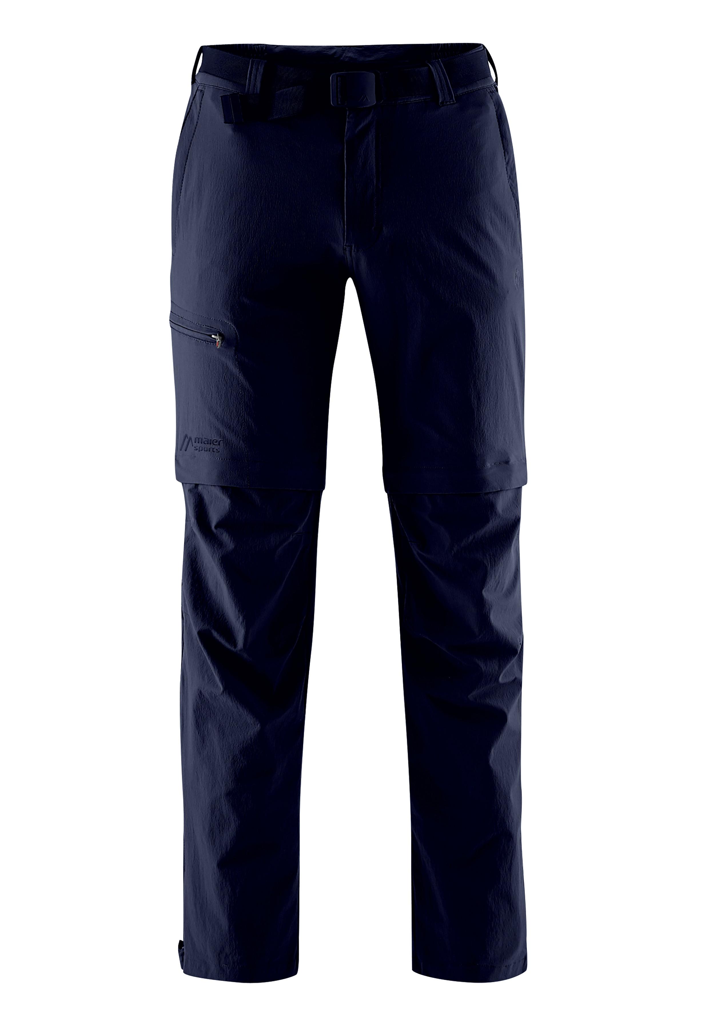 Maier Sports Funktionshose Tajo, Ausgezeichnete Outdoorhose mit funktionellem T-Zipp-Off blau Herren