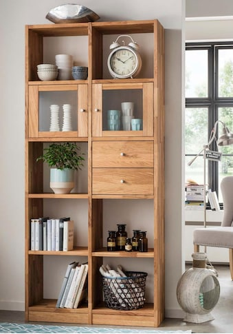 Premium collection by Home affaire Standregal, aus massiver Wildeiche, mit vielen Stauraummöglichkeiten, Höhe 202 cm kaufen