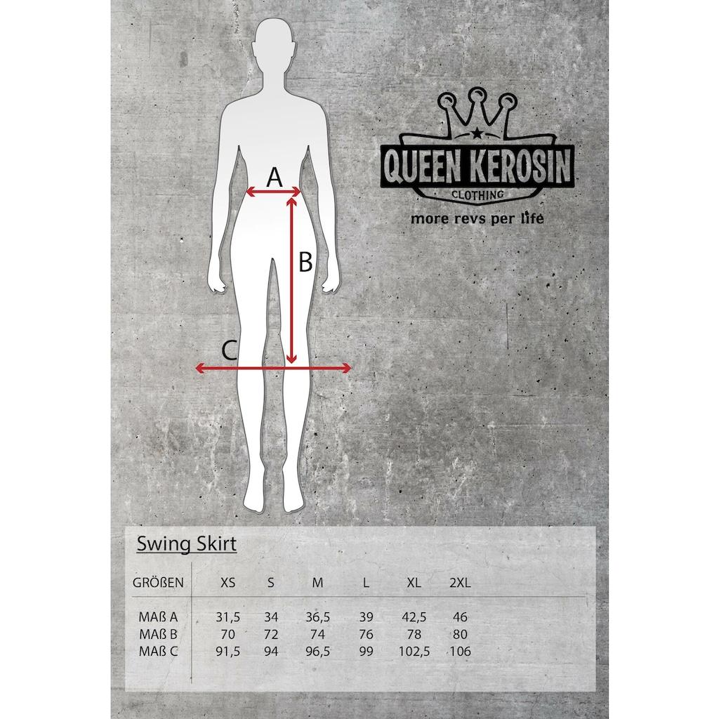 QueenKerosin A-Linien-Rock, aus elastischem Denim