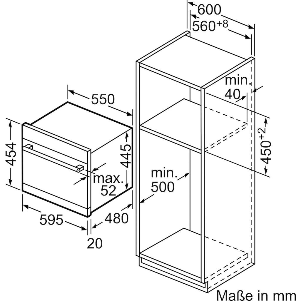 SIEMENS teilintegrierbarer Geschirrspüler »SK75M522EU«, iQ500, SK75M522EU, 6 Maßgedecke