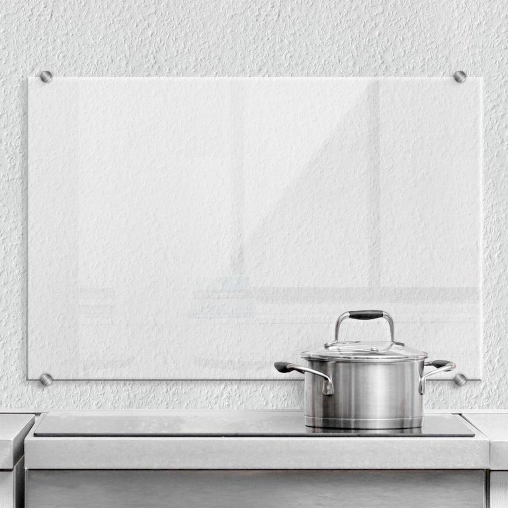Wall-Art Herd-Abdeckplatte »Spritzschutz Küche Transparent«, (1 tlg.)