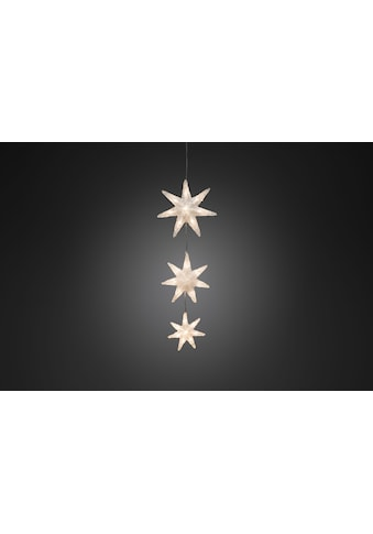 KONSTSMIDE LED-Lichtervorhang, 24 St.-flammig, LED Lichtervorhang, 3 Acryl Sterne, 24... kaufen