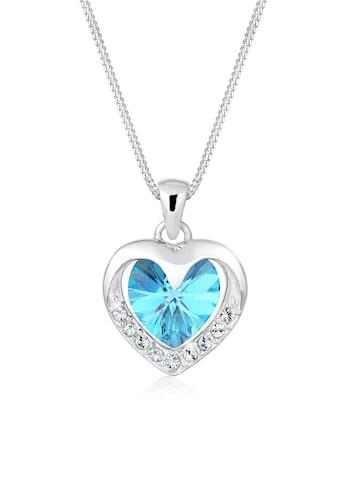 Elli Collierkettchen »Herz Glamour Kristalle 925 Silber« kaufen
