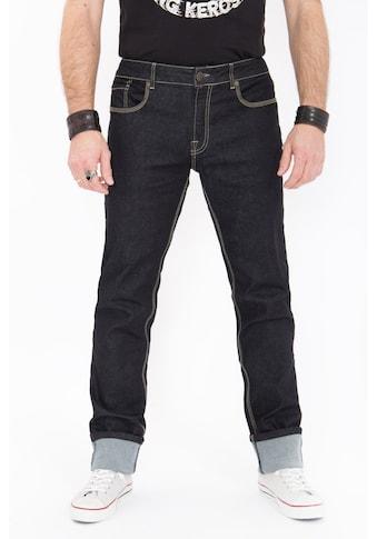 KingKerosin Regular-fit-Jeans »Robin«, in Rinse Wash mit Kontraststepps kaufen