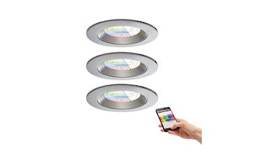 Paulmann,LED Einbaustrahler»Einbauleuchten - Set LED Lens RGBW Chrom matt3x4,8W Smart«, kaufen