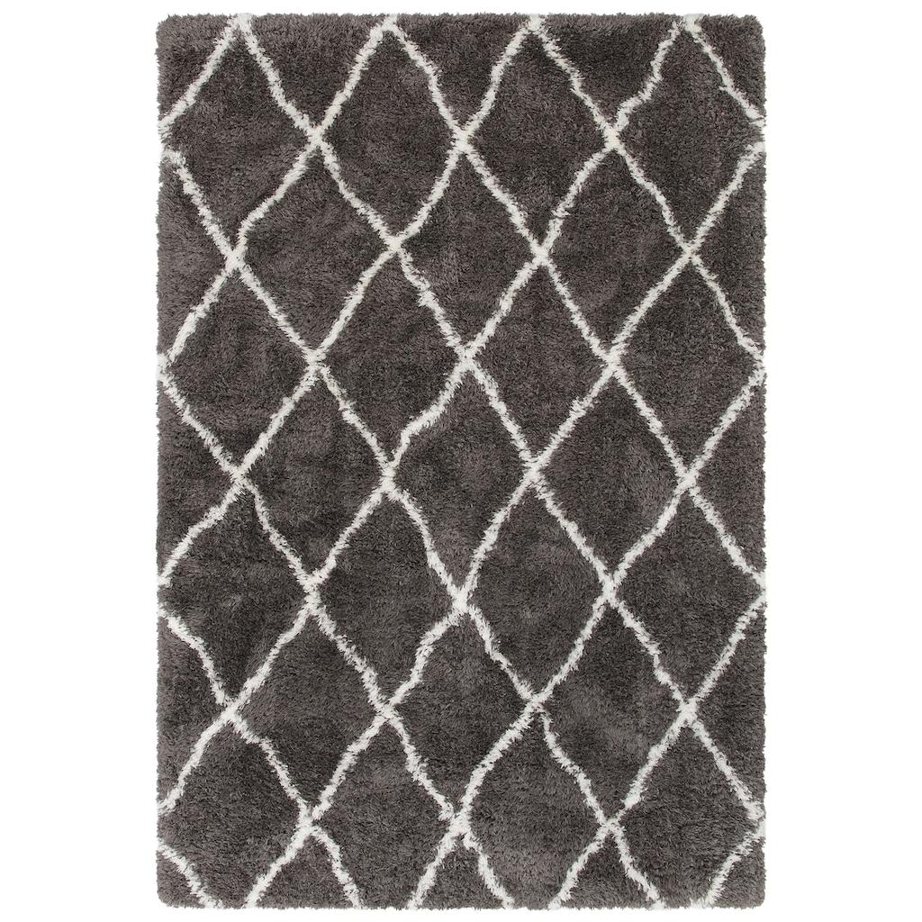 merinos Hochflor-Teppich »Floki 80075«, rechteckig, 70 mm Höhe, besonders weich durch Microfaser, Wohnzimmer