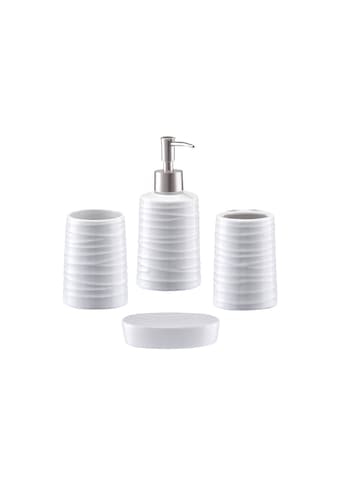 Zeller Bad - Accessoire - Set »Aqua«, 4 - teilig kaufen