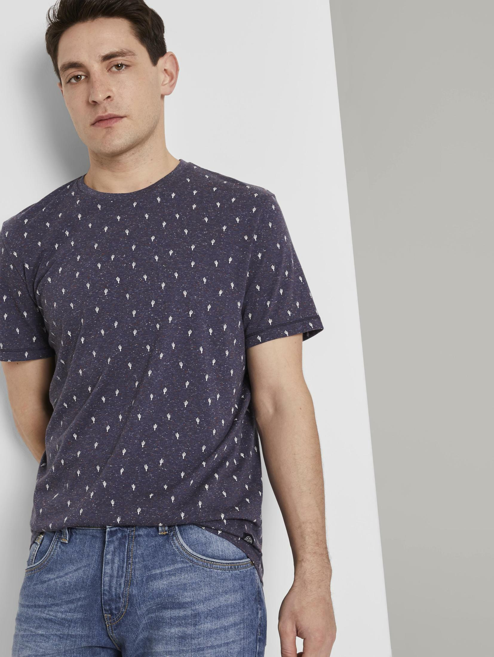 tom tailor -  T-Shirt Mehrfarbiges T-Shirt mit Allover-Print