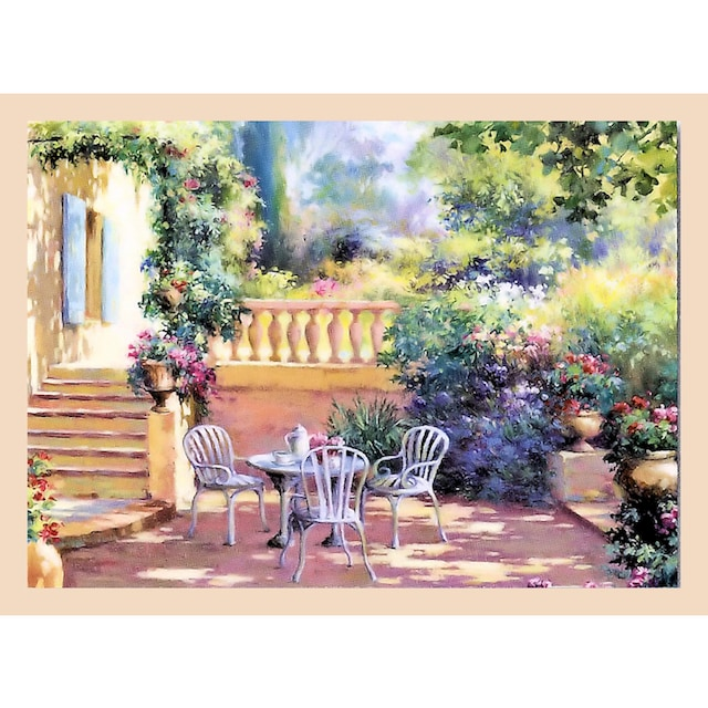 Home affaire Wandbild »Romantische Terrasse«