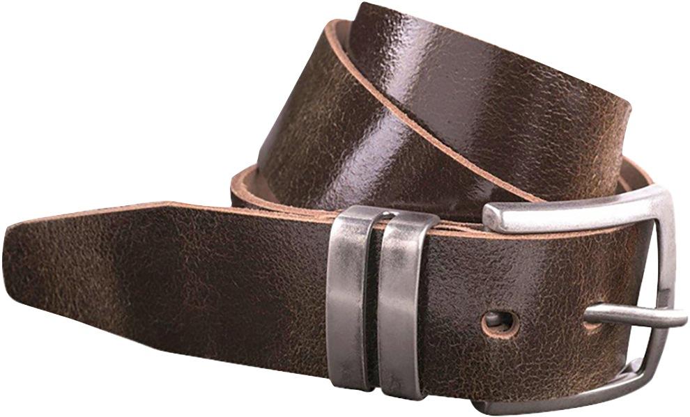 - Ledergürtel, Brillant braun, 40 mm