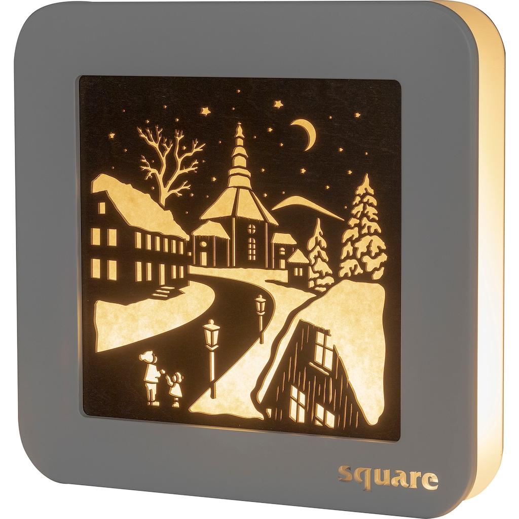 Weigla LED-Bild »Square - Standbild Seiffen«, (1 St.), mit Timer